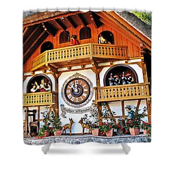 Blackforest Cuckoo Clock Shower Curtain
