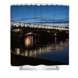 Shower Curtain featuring the photograph Blackfriars Bridge - London U K by Georgia Mizuleva