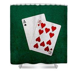 Blackjack Twenty One 1 Shower Curtain