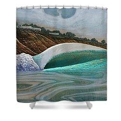 Blacks Beach Shower Curtain by Nathan Ledyard