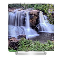Shower Curtain featuring the photograph Blackwater Falls by Gordon Elwell