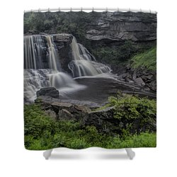 Blackwater Watercolor Shower Curtain