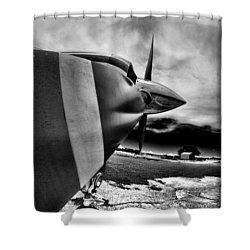 Blade Flyer Shower Curtain