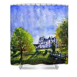 Blair Castle Bridge Scotland Shower Curtain by John D Benson