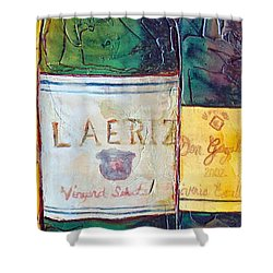 Shower Curtain featuring the painting Blanc De Blancs by Phyllis Howard
