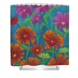 Blanket Flowers And Cosmos Shower Curtain