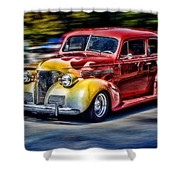 Blast From The Past Shower Curtain by Larry Bishop