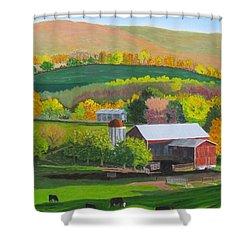 Blazing Autumn Color Shower Curtain