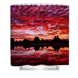 Blazing Dawn Shower Curtain