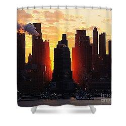 Blazing Morning Sun Shower Curtain
