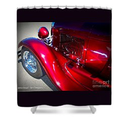 Shower Curtain featuring the photograph Blazing Rod by Bobbee Rickard