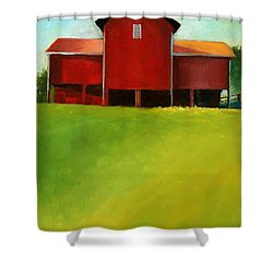Bleak House Barn 2 Shower Curtain by Catherine Twomey
