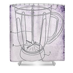 Blender Patent Shower Curtain by Edward Fielding