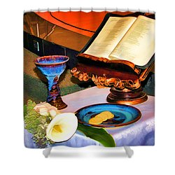 Shower Curtain featuring the photograph Blessings-benediciones by Eleanor Abramson