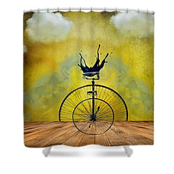 Blind Date Shower Curtain by Ally  White