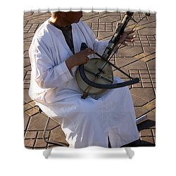 Blind Man Place Djemna Al Fna Marrakesh Morocco Shower Curtain by Ralph A  Ledergerber-Photography