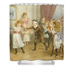 Blind Mans Buff Shower Curtain by George Goodwin Kilburne
