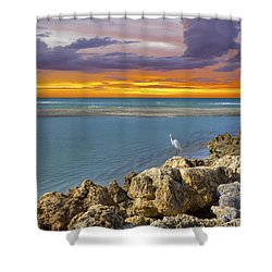Blind Pass Sunset Shower Curtain by Sean Allen