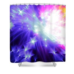 Blinded By The Light Shower Curtain by Dazzle Zazz