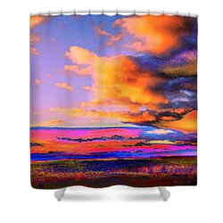 Blinn Hill View Shower Curtain by Expressionistart studio Priscilla Batzell