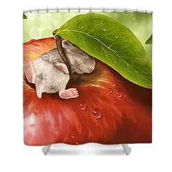 Bliss Shower Curtain by Veronica Minozzi