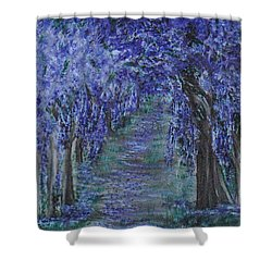 Blissful Walk Through Purple Shower Curtain
