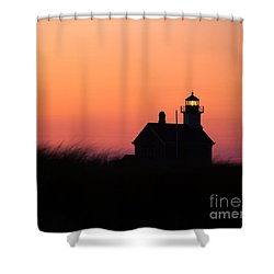 Block Island North Lighthouse Shower Curtain by Diane Diederich