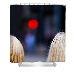 Blondes Are Not Allowed 2 - Featured 3 Shower Curtain by Alexander Senin