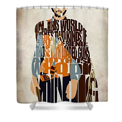 Blondie Poster From The Good The Bad And The Ugly Shower Curtain