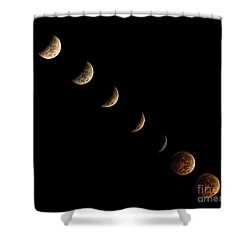 Blood Moon Shower Curtain by James Dean