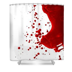 Blood Splatter  Shower Curtain by Holly Anderson