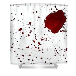 blood splatter PANCHAKARMA Shower Curtain