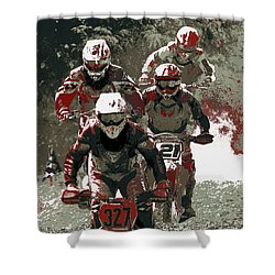 Blood Sweat And Dirt Shower Curtain by Angela Rath