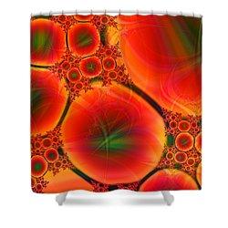 Blood Type Shower Curtain by Anastasiya Malakhova
