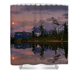 Bloodmoon Rise Over Picture Lake Shower Curtain