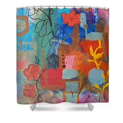 Bloom Where You Are Shower Curtain by Robin Maria Pedrero