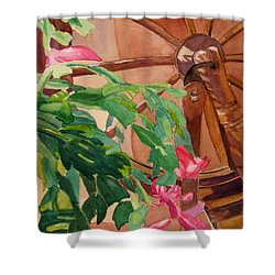 Bloomin' Cactus Shower Curtain