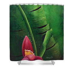 Blooming Banana Shower Curtain