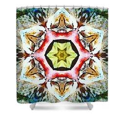 Blooming Fibonacci Shower Curtain