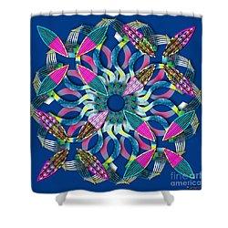 Blooming Mandala 6 Shower Curtain