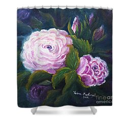 Blooming Shower Curtain by Vesna Martinjak