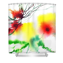 Blooms 3 Shower Curtain by Anil Nene