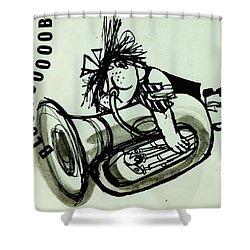 Blooooob! Ink On Paper Shower Curtain