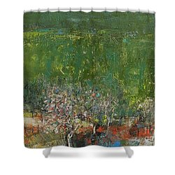 Blossoming Tree In The Garden Shower Curtain