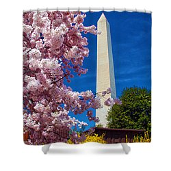 Blossoms Shower Curtain by Mitch Cat