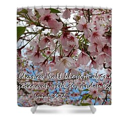 Blossoms Rejoice Shower Curtain