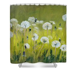 Blow Balls Shower Curtain