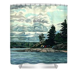 Blow Me Away Shower Curtain by Phil Chadwick