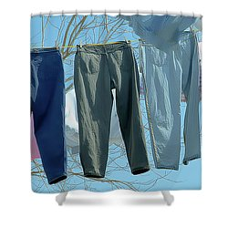 Blowin' In The Wind ...wash Day Shower Curtain by Michael Flood