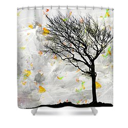 Blowing It The Wind Shower Curtain by Edmund Nagele